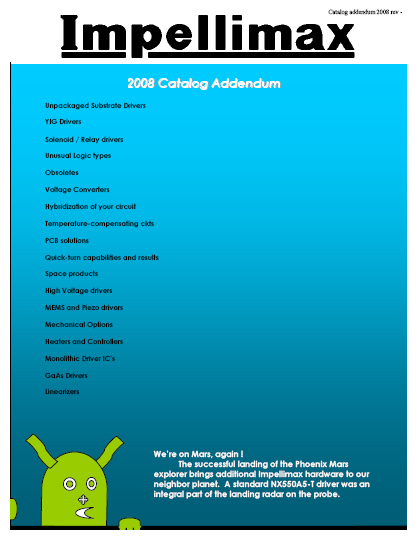 2008 Catalog Addendum
